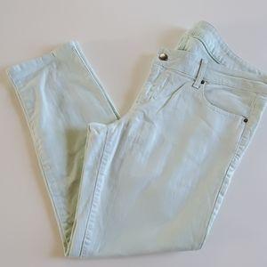 Gap mint ankle skinny jeans size 32